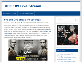 ufc182live.com screenshot