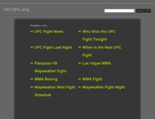 ufc194.org screenshot