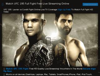 ufc194free.com screenshot