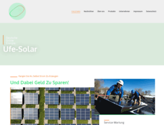 ufesolar.de screenshot