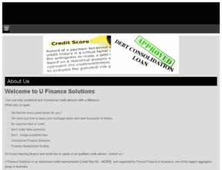 ufinancesolutions.com.au screenshot