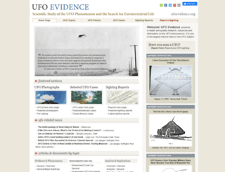 ufoevidence.org screenshot