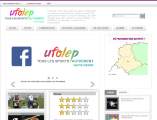 ufolep87.fr screenshot