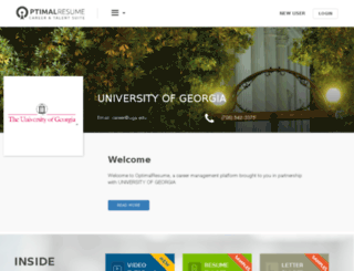uga.optimalresume.com screenshot