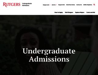 ugadmissions.rutgers.edu screenshot