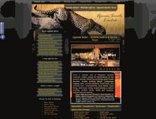 ugandagorillasafaritours.com screenshot