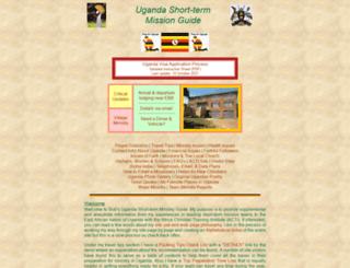 ugandamission.net screenshot