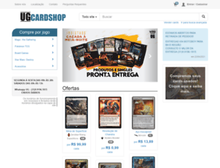 ugcardshop.com.br screenshot