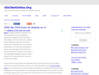 ugcnetonline.org screenshot