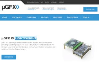 ugfx.org screenshot