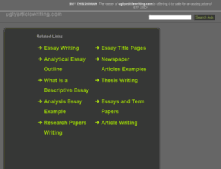 uglyarticlewriting.com screenshot