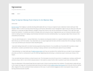 ugrasense.wordpress.com screenshot