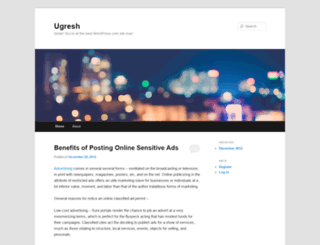 ugresh.wordpress.com screenshot
