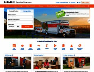 uhaul.com screenshot