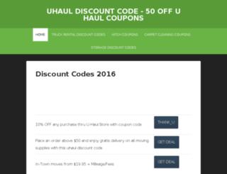 uhauldiscountcode.net screenshot