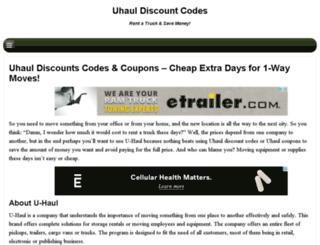 uhauldiscountcode.org screenshot