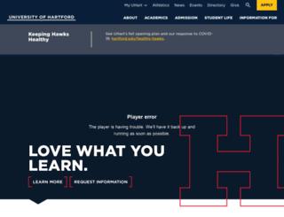 uhavax.hartford.edu screenshot