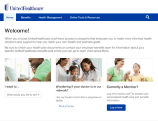 uhc.welcometouhc.com screenshot