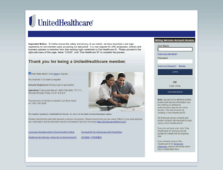 uhcexchangebilling.com screenshot