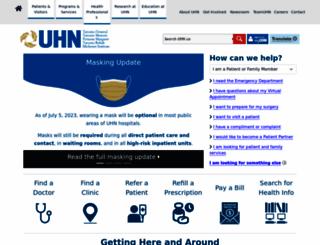 uhn.ca screenshot