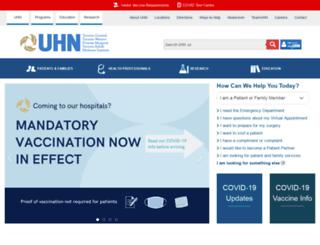 uhn.on.ca screenshot