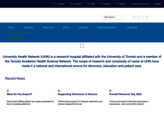 uhnresearch.ca screenshot