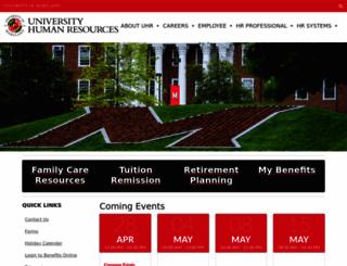 uhr.umd.edu screenshot