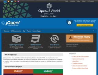 ui.jquery.com screenshot