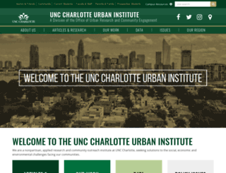 ui.uncc.edu screenshot