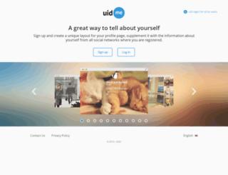 uid.me screenshot