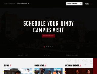 uindy.edu screenshot