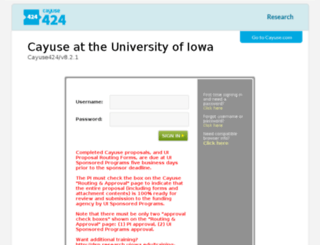 uiowa.cayuse424.com screenshot