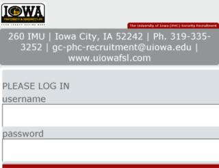 uiowaphc.mycampusdirector.com screenshot