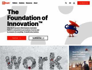 uipath.com screenshot