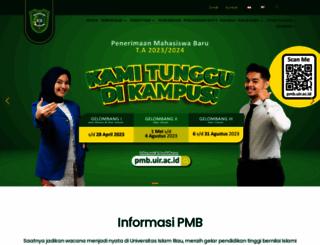 uir.ac.id screenshot