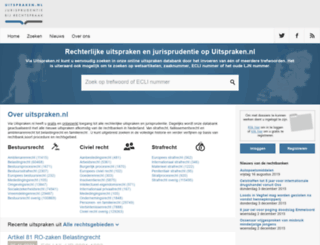 uitspraken.nl screenshot