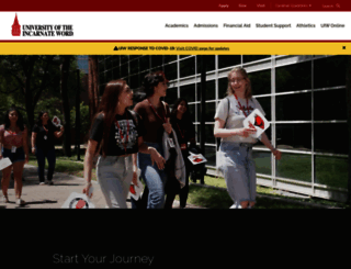 uiw.edu screenshot