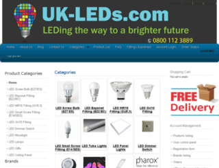 uk-leds.com screenshot