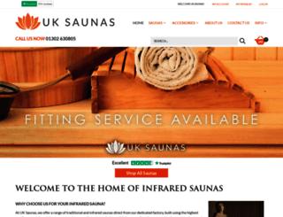 uk-saunas.co.uk screenshot