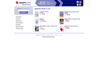 uk.agapea.com screenshot