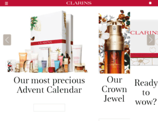 uk.clarins.com screenshot