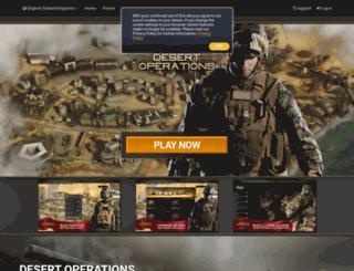 uk.desert-operations.com screenshot