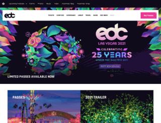 uk.electricdaisycarnival.com screenshot