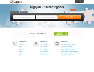 uk.gigajob.com screenshot