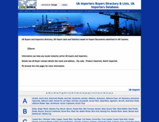 uk.importers-directory.net screenshot