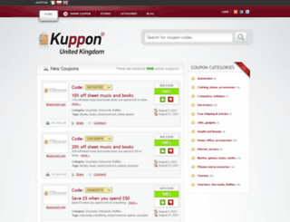 uk.kuppon.eu screenshot