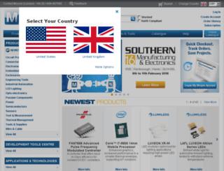 uk.mouser.com screenshot