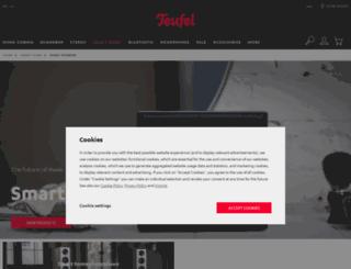 uk.raumfeld.com screenshot