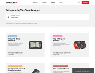 uk.support.tomtom.com screenshot