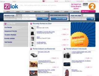 uk.zilok.com screenshot